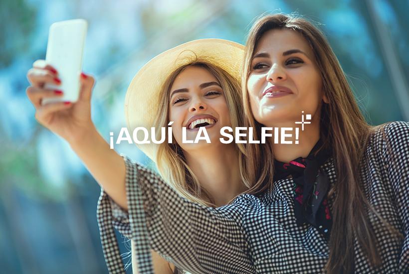 ¡Aquí la selfie!